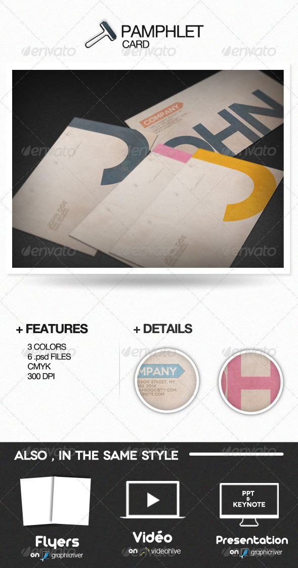 Pamphlet Card - Creative Business Cards