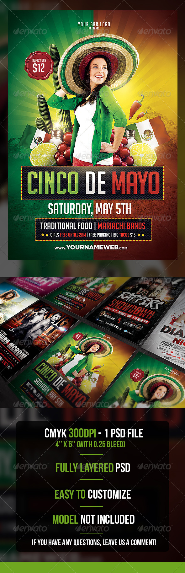 Cinco de Mayo Flyer Template - Flyers Print Templates