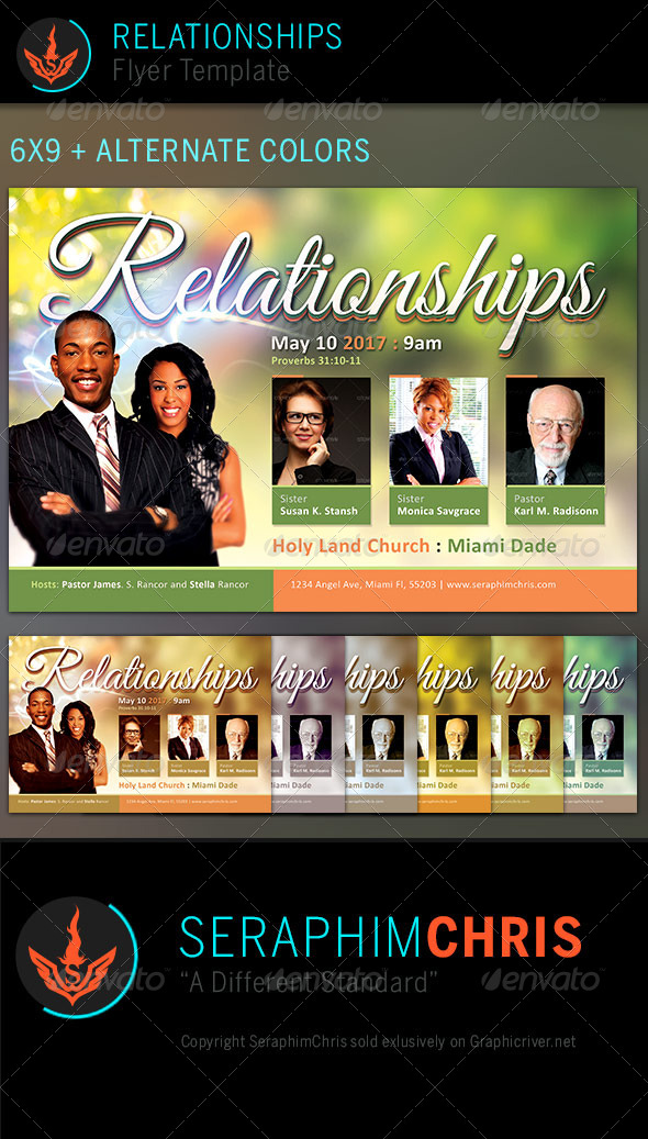 GraphicRiver Relationships Church Flyer Template 7477845