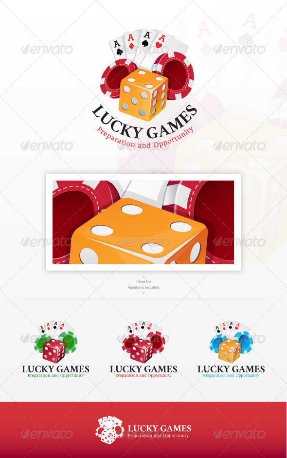 GraphicRiver Lucky Games Logo 7477854