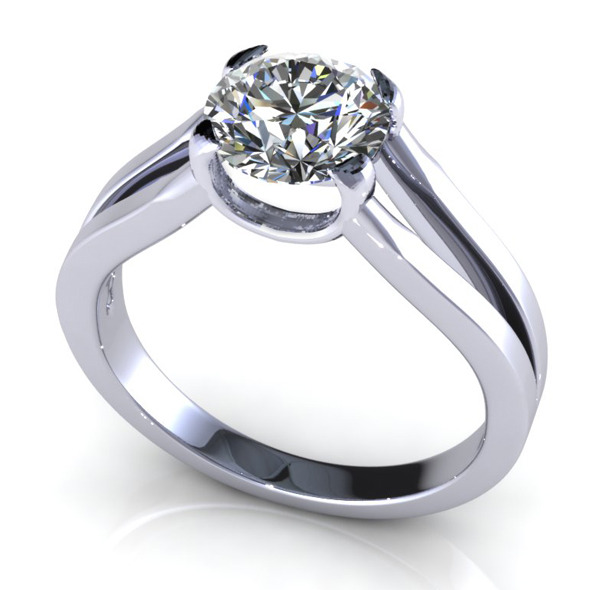 3DOcean Bianco Round Diamond Ring 7478218