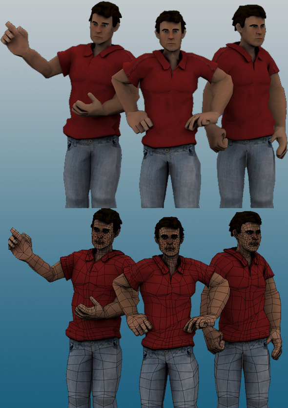 3DOcean Game Ready Male Character 7478516