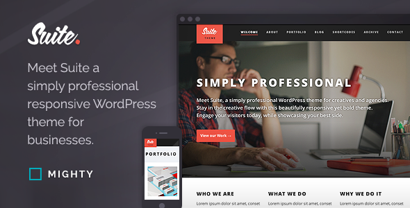 Suite WordPress Theme - Portfolio Creative