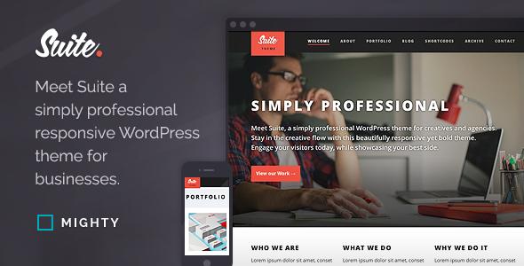 Suite WordPress Theme - Portfolio Creative