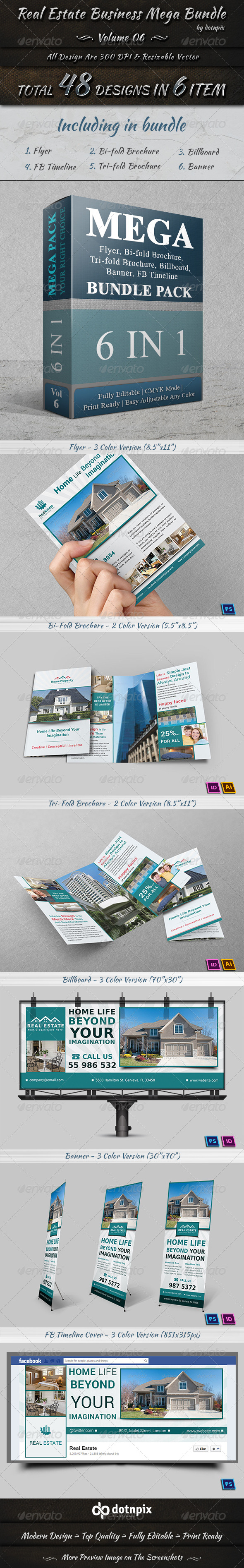 GraphicRiver Real Estate Business Mega Bundle Volume 6 7478564