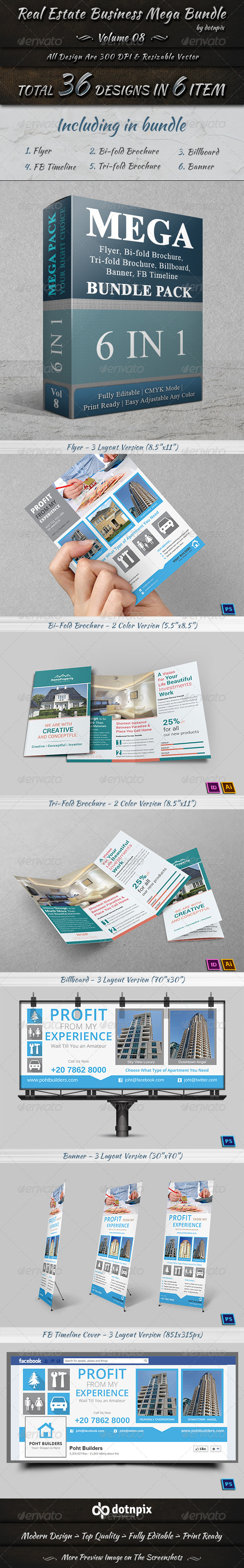 GraphicRiver Real Estate Business Mega Bundle Volume 8 7478567
