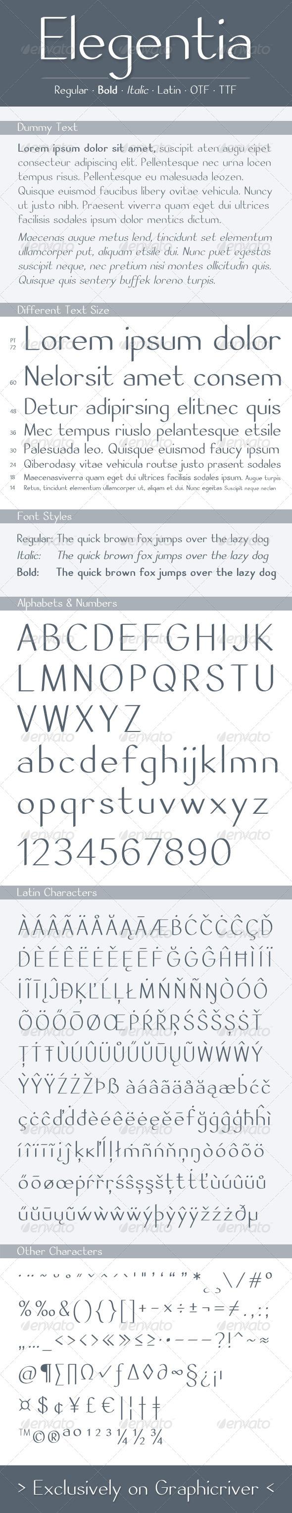 GraphicRiver Elegentia Font 7478569