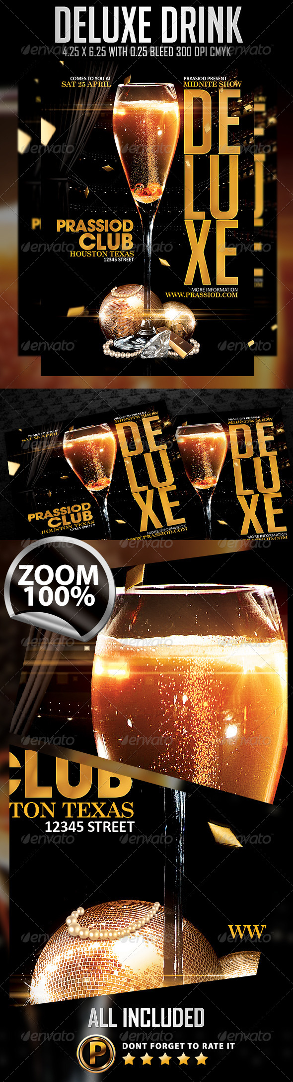 GraphicRiver Deluxe Drink Flyer Template 7478581