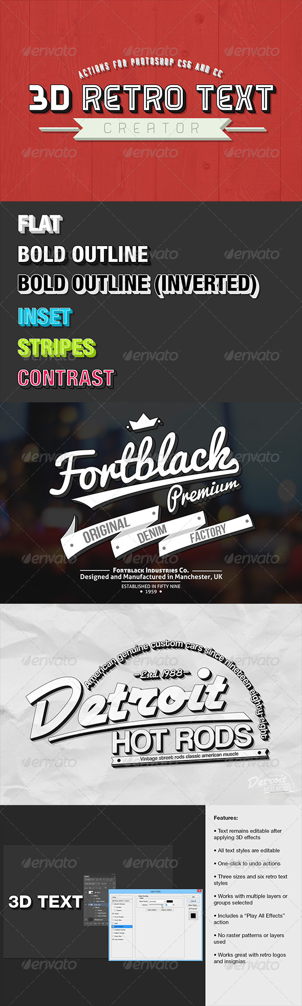 GraphicRiver 3D Retro Text Creator 7479172