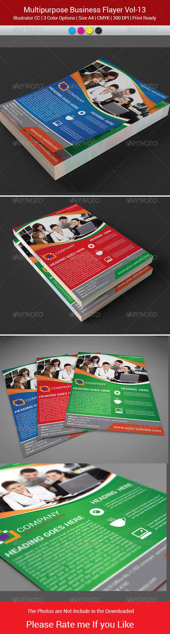 GraphicRiver MultiPurpose Business Flyer-Vol-13 7479177