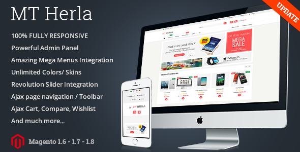 Download MT Herla Responsive Hitech Magento Theme nulled download