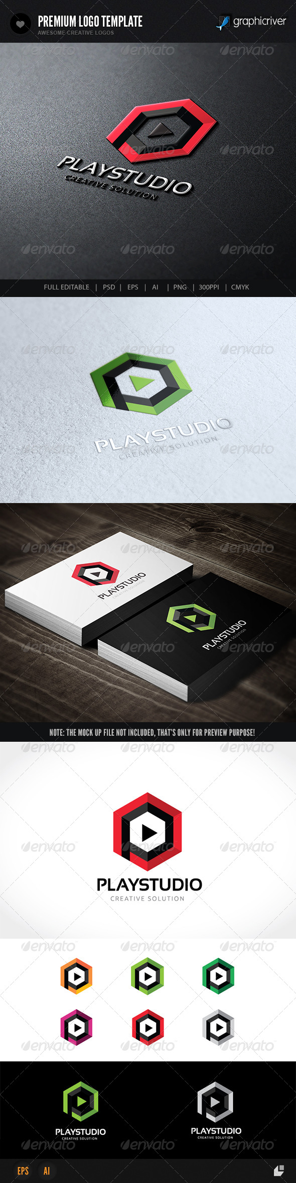 GraphicRiver Play Studio Logo 7479899