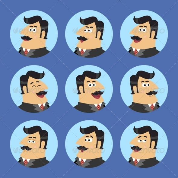 Business Shareholder Icon Set