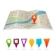 City Map with Pins - GraphicRiver Item for Sale