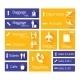 Airport Navigation Infographic Design Elements - GraphicRiver Item for Sale