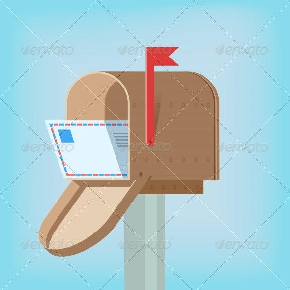 GraphicRiver Postal Box with Letter 7480025