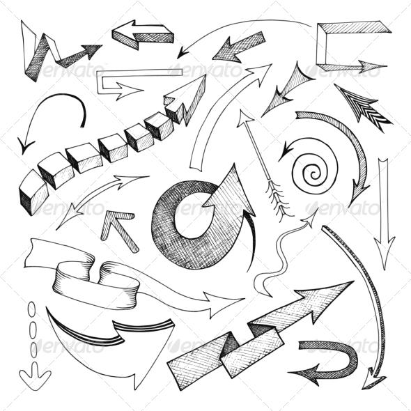 GraphicRiver Arrows Icon Sketch 7480063