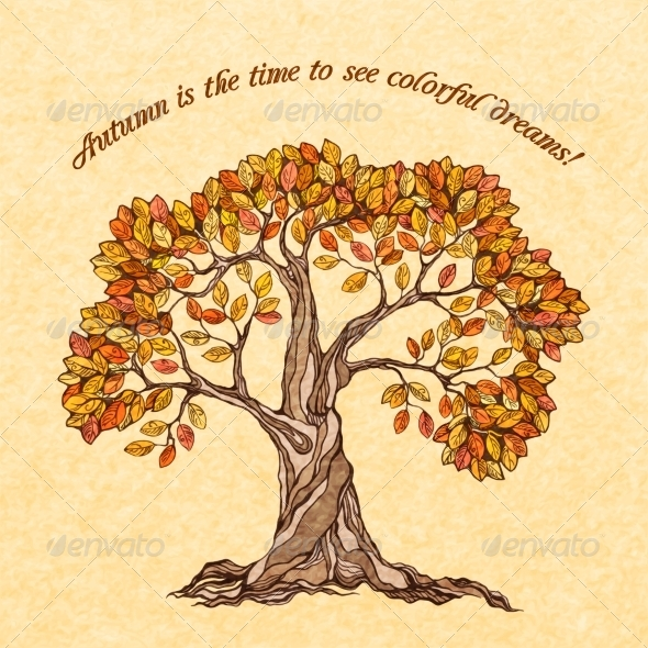 GraphicRiver Autumn Tree Poster 7480103