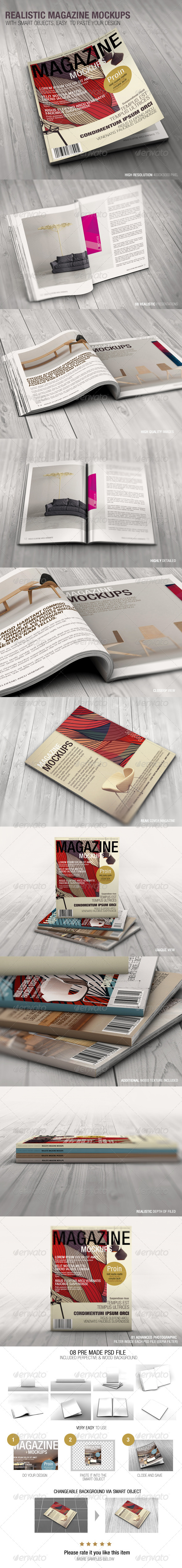 GraphicRiver Realistic Magazine Mockups 7480115
