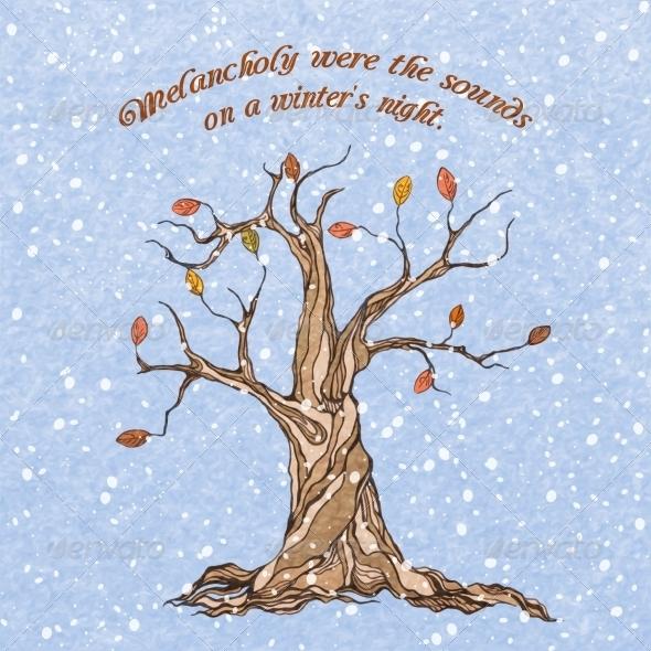 GraphicRiver Winter Tree Poster 7480140