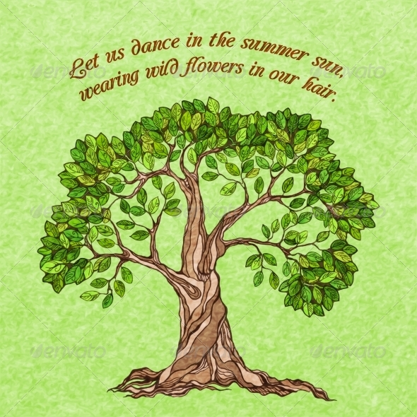 GraphicRiver Summer Tree Poster 7480149