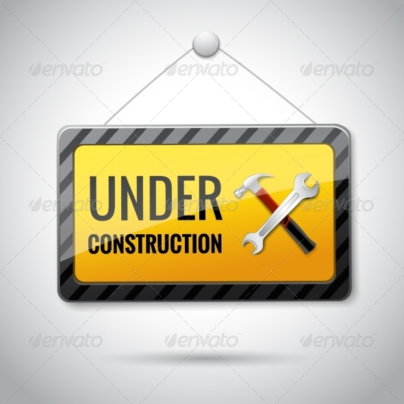 GraphicRiver Under Construction Emblem Icon 7480161