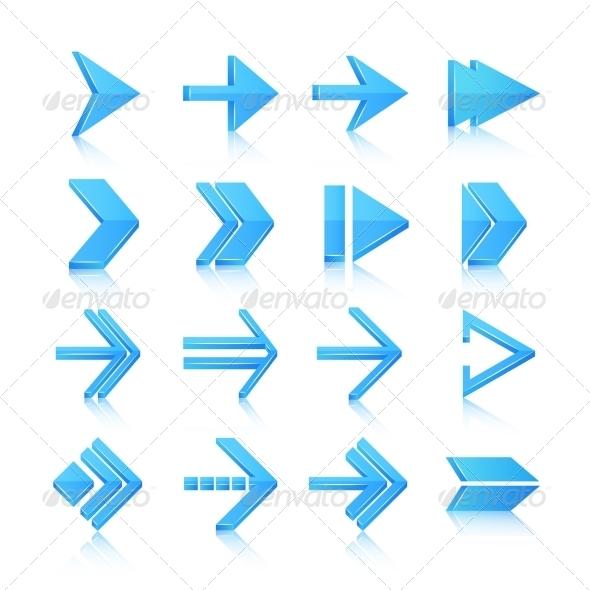GraphicRiver Arrow Symbols Icons Set 7480175