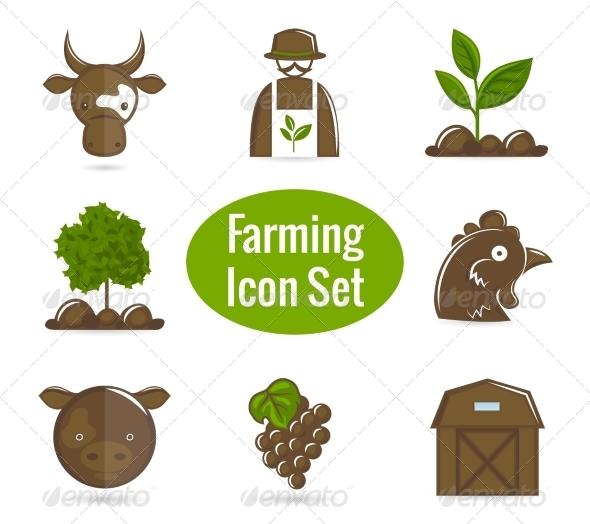 GraphicRiver Farming Icon Set 7480196