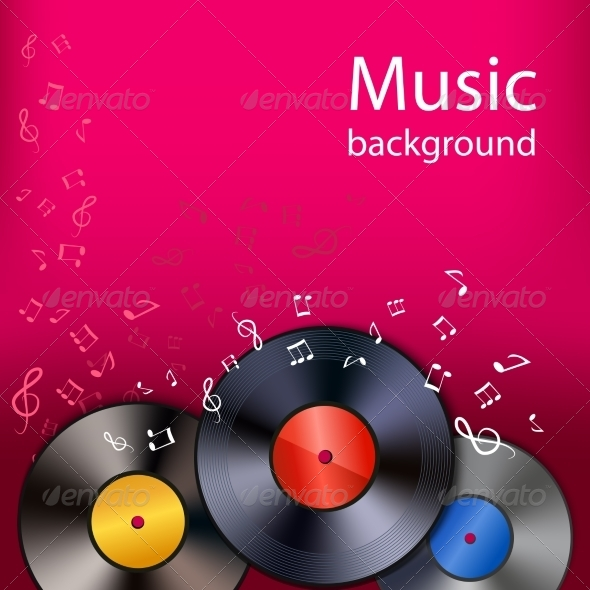 GraphicRiver Vinyl Music Background 7480243
