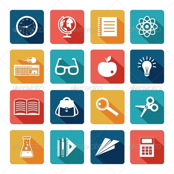 GraphicRiver Education Icons Flat Set 7480261