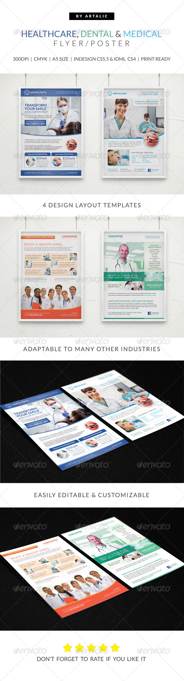 GraphicRiver Healthcare Medical & Dental Flyer Poster Pack 7480296