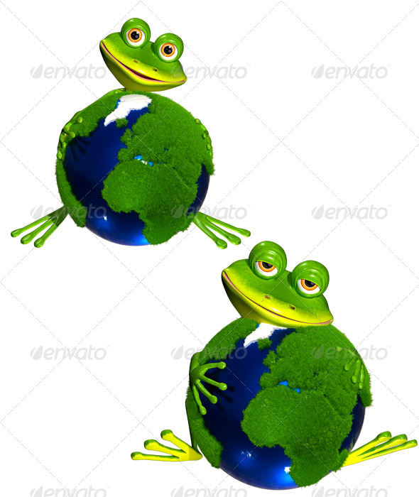 GraphicRiver Frog and Globe 7480473