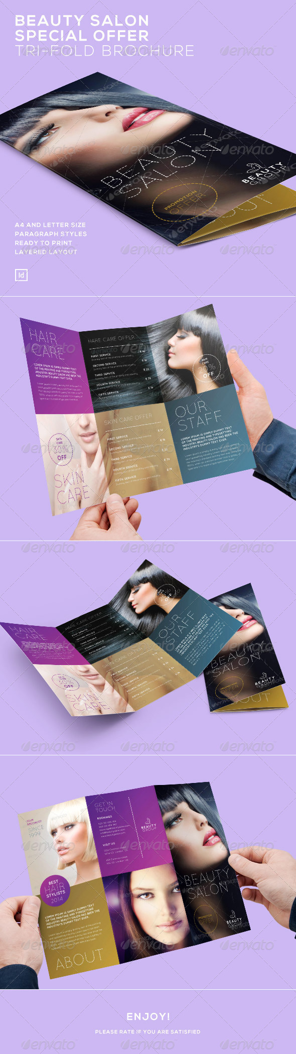 GraphicRiver Beauty Salon Special Offer Tri-Fold Brochure 7480480