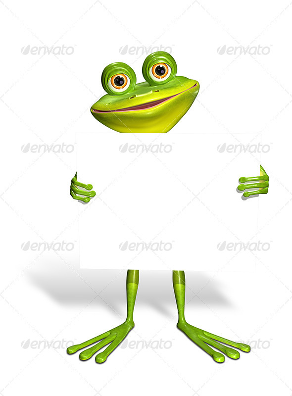 GraphicRiver Frog and White Background 7480487