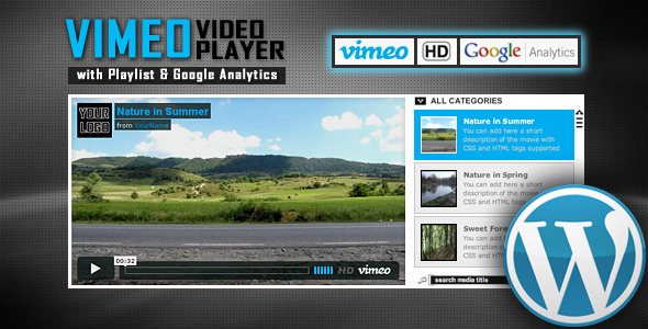 Vimeo Video Player Wordpress Plugin with Playlist - Presentation