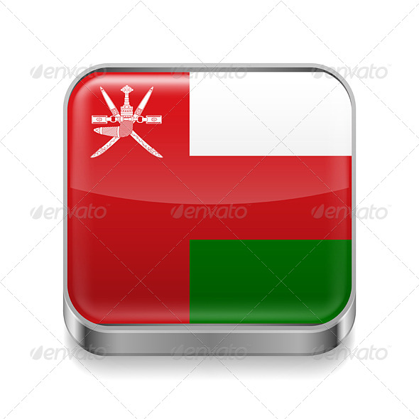 GraphicRiver Metal Icon of Oman 7480547