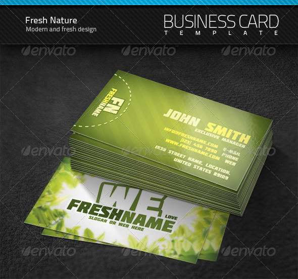 GraphicRiver Fresh Nature Business Card 249500