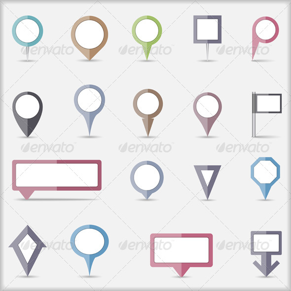 GraphicRiver Flat Map Markers 7480658