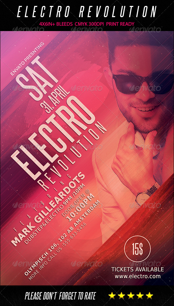 GraphicRiver Electro House Flyer Template 7480663