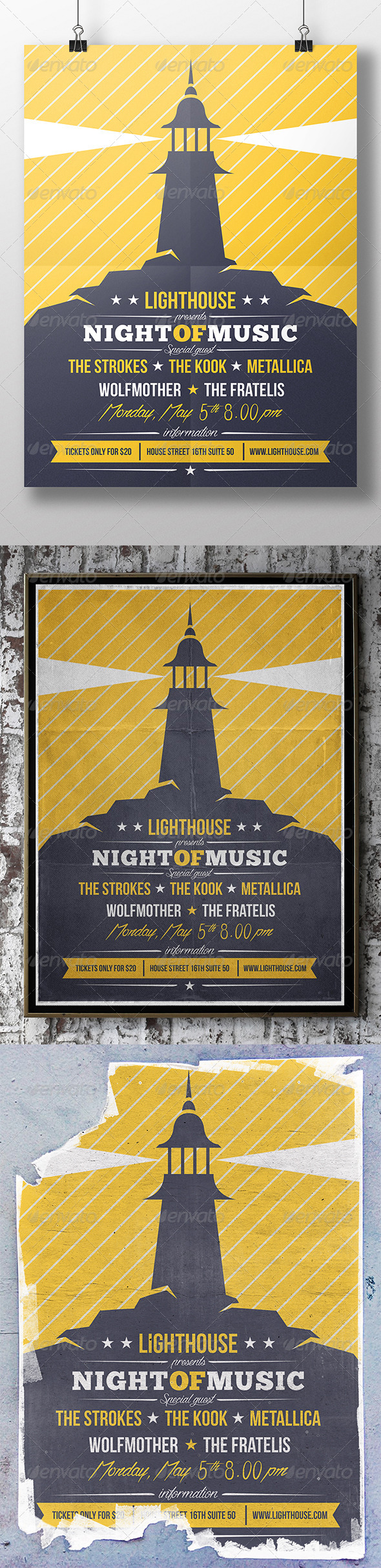 GraphicRiver Lighthouse Flyer 7480678
