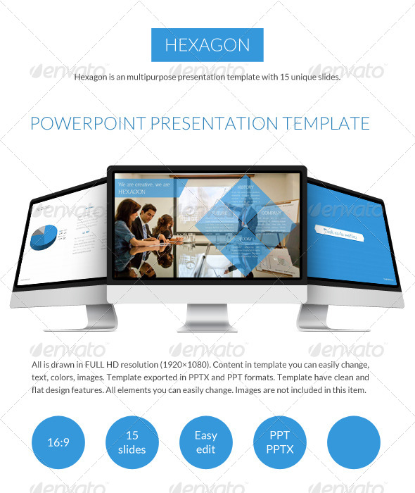 GraphicRiver Hexagon Powerpoint Presentation Template 7480836