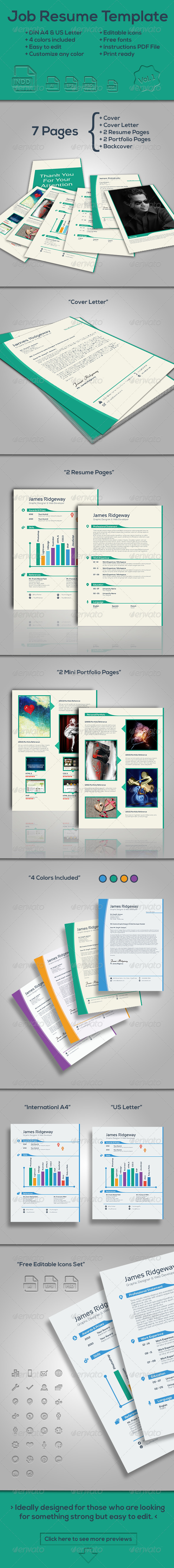 GraphicRiver Job Resume Template Vol.1 7480854
