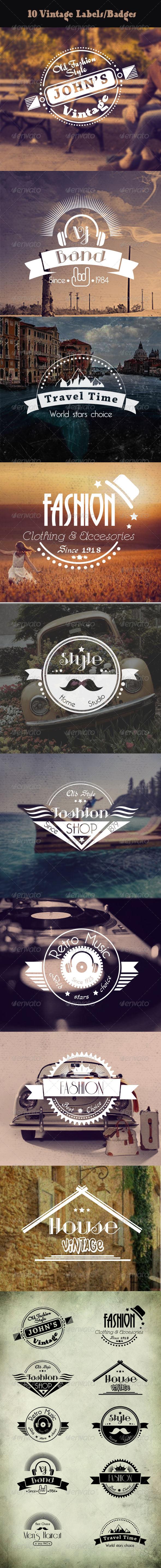 GraphicRiver Vintage Labels and Badges 7470846