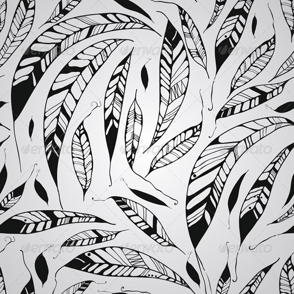 GraphicRiver Seamless Pattern with Feathers 7481125