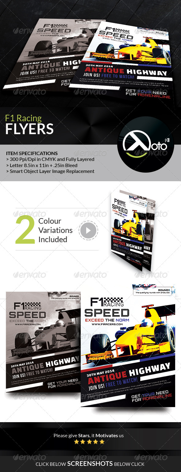 GraphicRiver F1 Super Racing Flyers 7481267