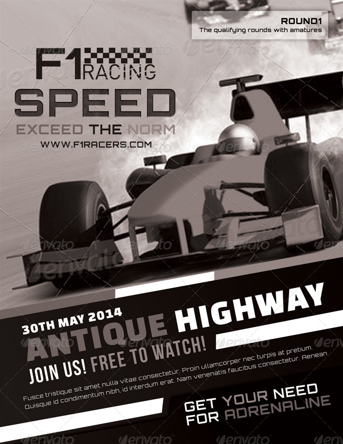 F1 Super Racing Flyers by totopc   GraphicRiver