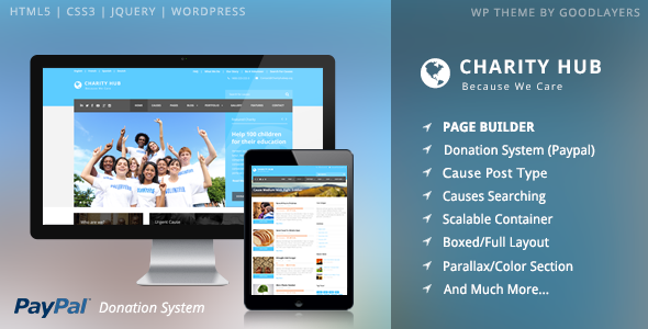 ThemeForest Charity Hub Charity Nonprofit Fundraising WP 7481543