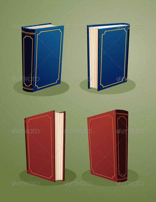 GraphicRiver Illustration of Books In Various Angle 7481672