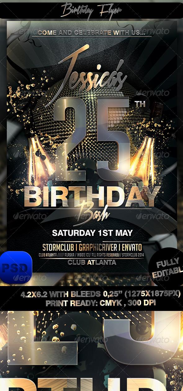 GraphicRiver Birthday Flyer 7481811