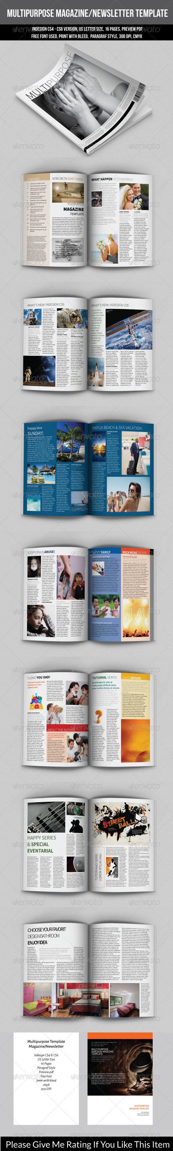 GraphicRiver Multipurpose Magazine Newsletter Template 7481976